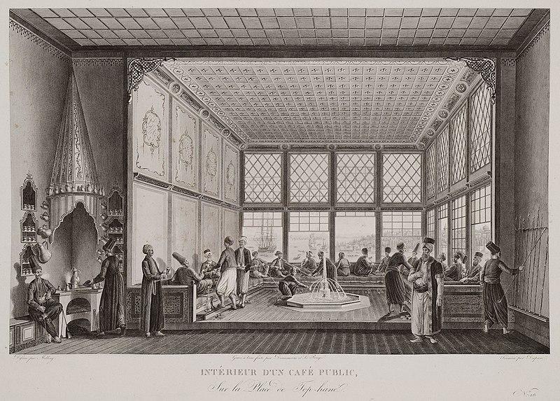 アントワヌ・イニャス・メラングの「コーヒーハウス」:コンスタンティノープルとボスフォラス海峡の絵画のような旅