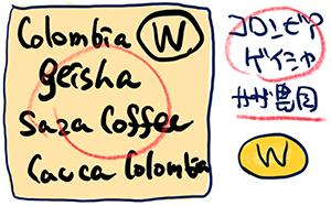 サザコーヒー:コロンビア サザコーヒー農園 ゲイシャ