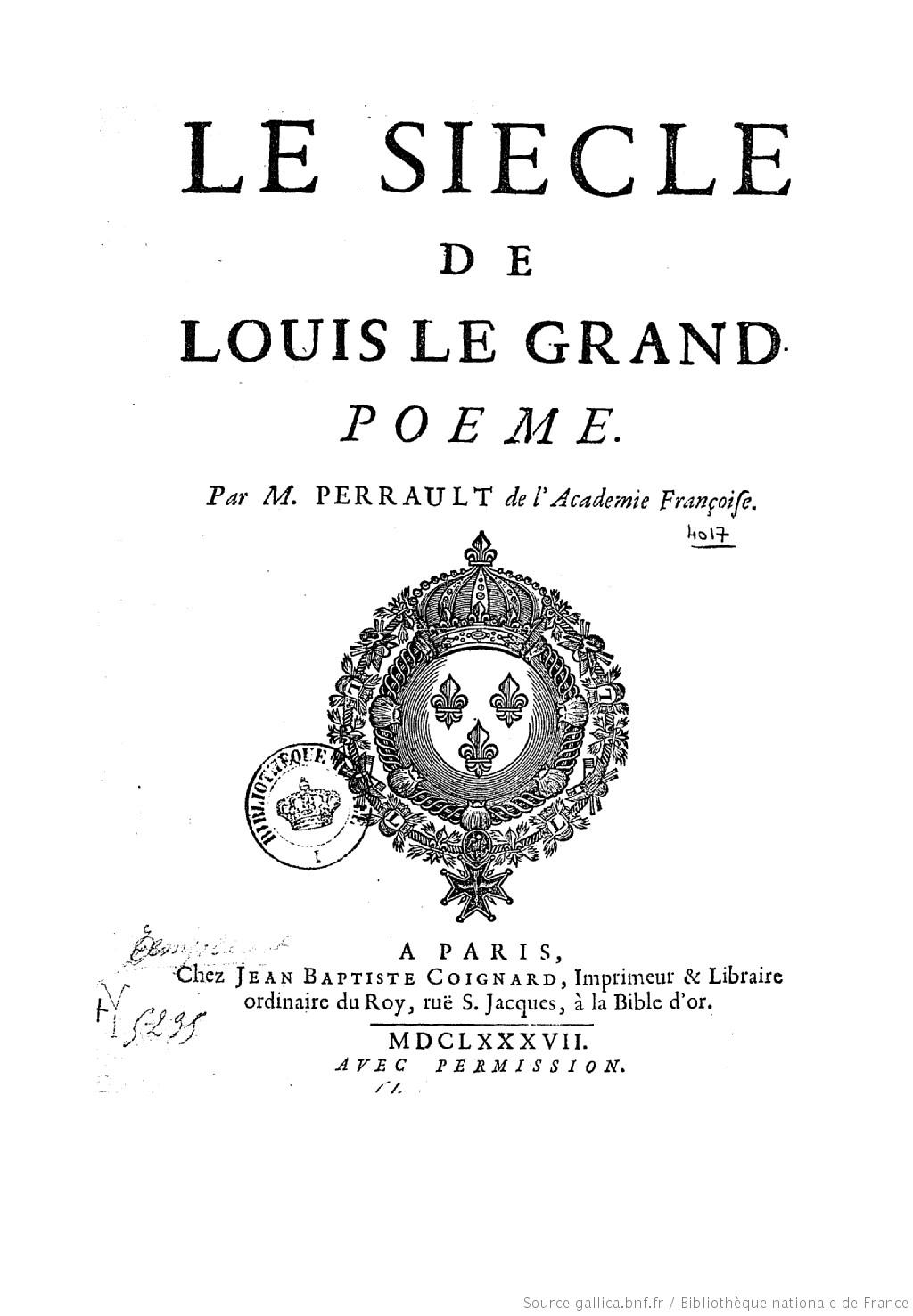 シャルル=ルイ・ド・モンテスキュー『ペルシア人の手紙』とシャルル・ペロー『ルイ大王の世紀』