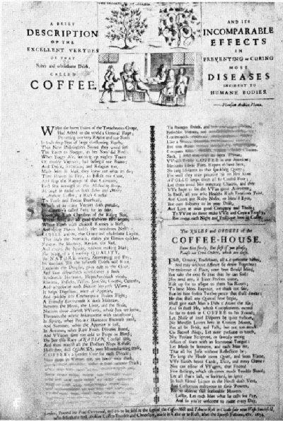 コーヒーと呼ばれる人体に発生する最も多くの病気の予防または治療におけるその比類のない効果を持つ、醒めていて健全な飲み物の素晴らしい美徳の簡潔な説明。