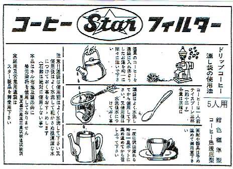 ネルフィルター:スターコーヒーフィルター